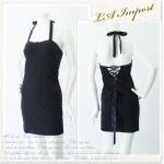 【70%OFF】【送料無料】LAインポート!バックスタイル美人セクシータイトワンピースドレス