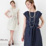 【上質な日本製】【送料無料】結婚式に。シャンタンサテンが高級感あるワンピースドレス