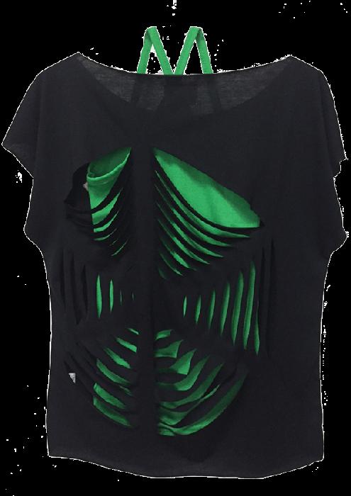 スパイダーカットTシャツ&キャミソールSet