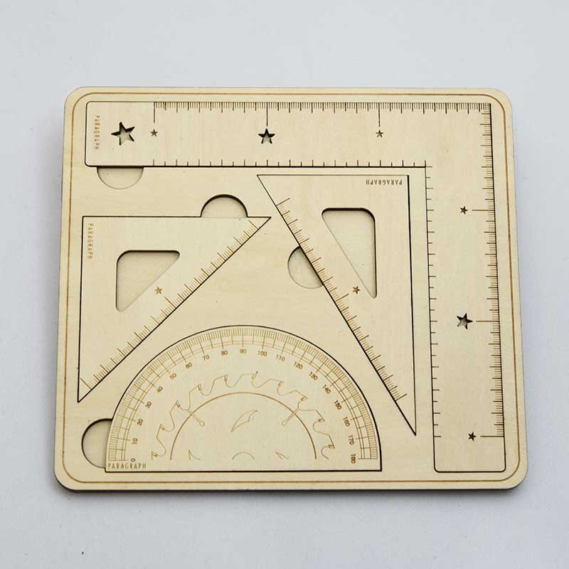 PARAGRAPH Wood Ruler Set