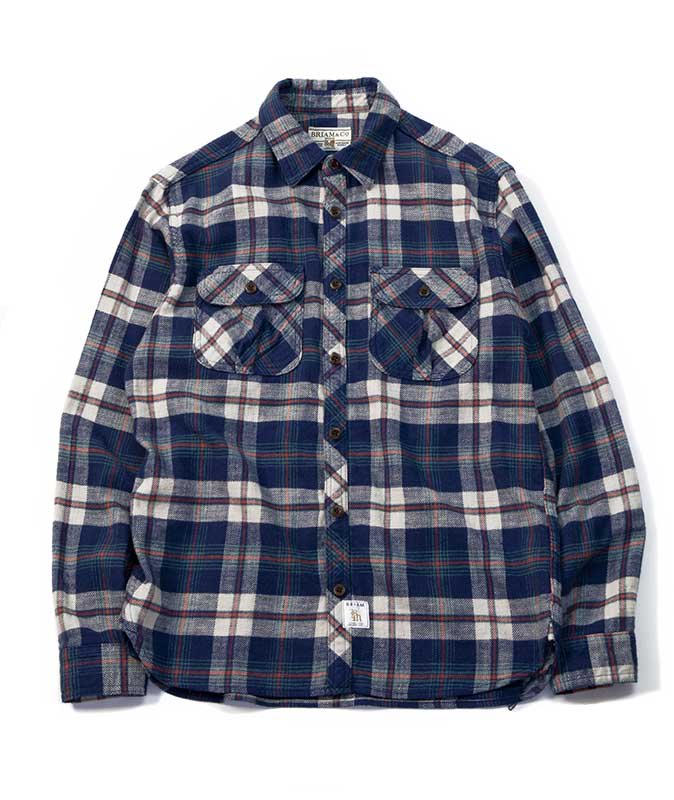 BRIAM MEANS Co.  BM Check Shirt LS<img class='new_mark_img2' src='//img.shop-pro.jp/img/new/icons18.gif' style='border:none;display:inline;margin:0px;padding:0px;width:auto;' />
