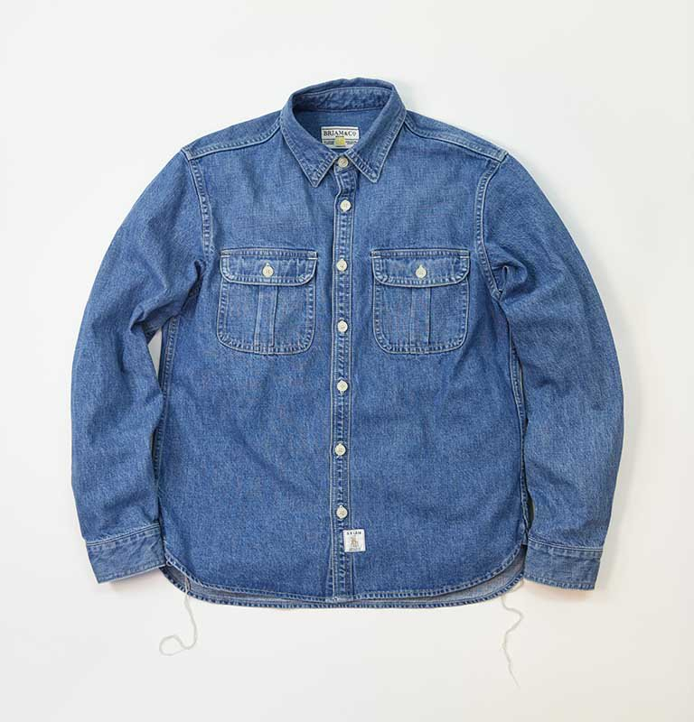 BRIAM MEANS Co.  BM Denim Shirt LS<img class='new_mark_img2' src='//img.shop-pro.jp/img/new/icons18.gif' style='border:none;display:inline;margin:0px;padding:0px;width:auto;' />