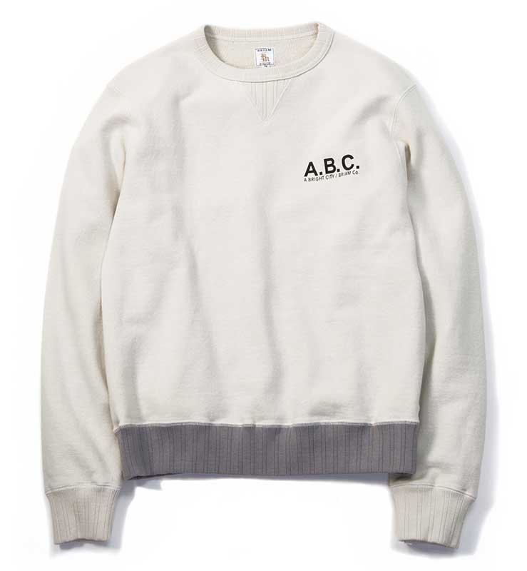 BRIAM MEANS Co.  A.B.C. Crewneck Sweat<img class='new_mark_img2' src='//img.shop-pro.jp/img/new/icons16.gif' style='border:none;display:inline;margin:0px;padding:0px;width:auto;' />
