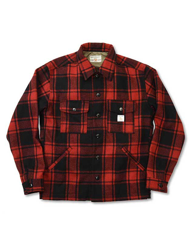BRIAM MEANS Co.  BM Wool Check Shirts Jacket<img class='new_mark_img2' src='//img.shop-pro.jp/img/new/icons16.gif' style='border:none;display:inline;margin:0px;padding:0px;width:auto;' />