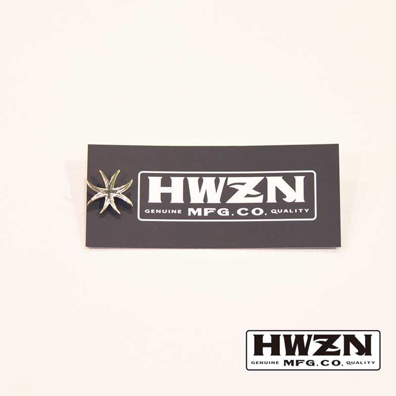 HWZN.MFG.CO. / EIGHTLEGGED CROSS PINS (brass)