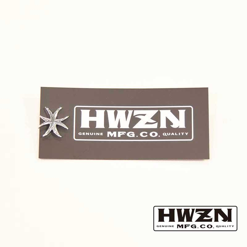 HWZN BROSS EIGHTLEGGED CROSS PINS (silver)
