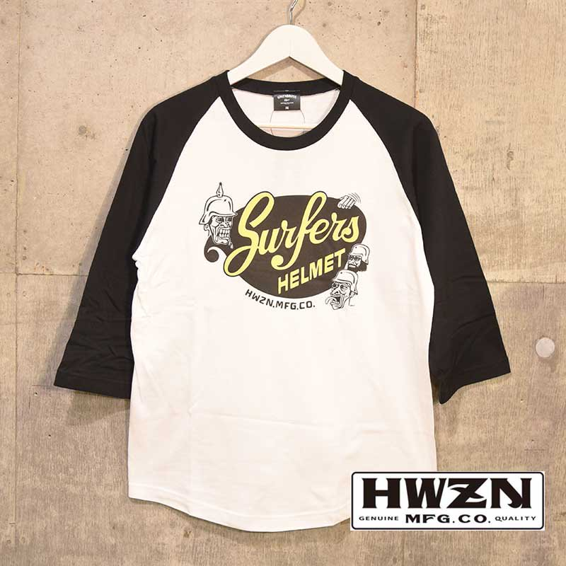 HWZN.MFG.CO. / Sufers Helmet Raglan Tee