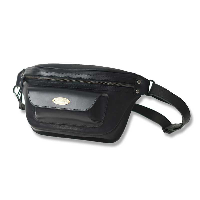 EVILACT LEATHER WAIST BAG