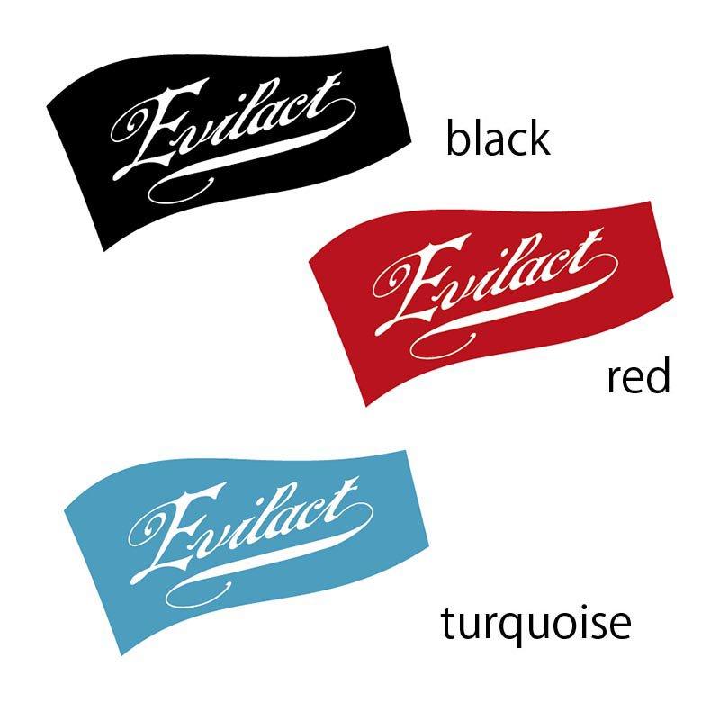 EVILACT Logo Sticker Flag A
