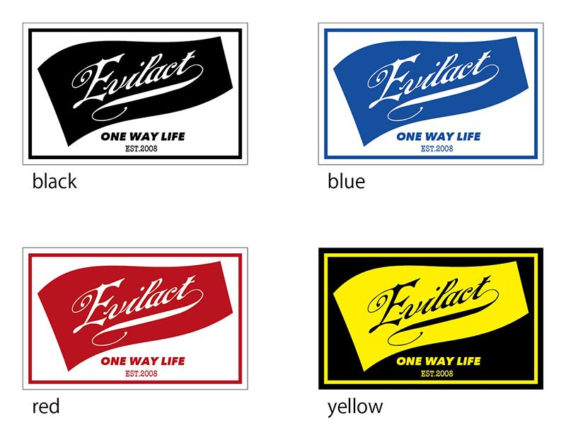 EVILACT Logo Sticker Flag B