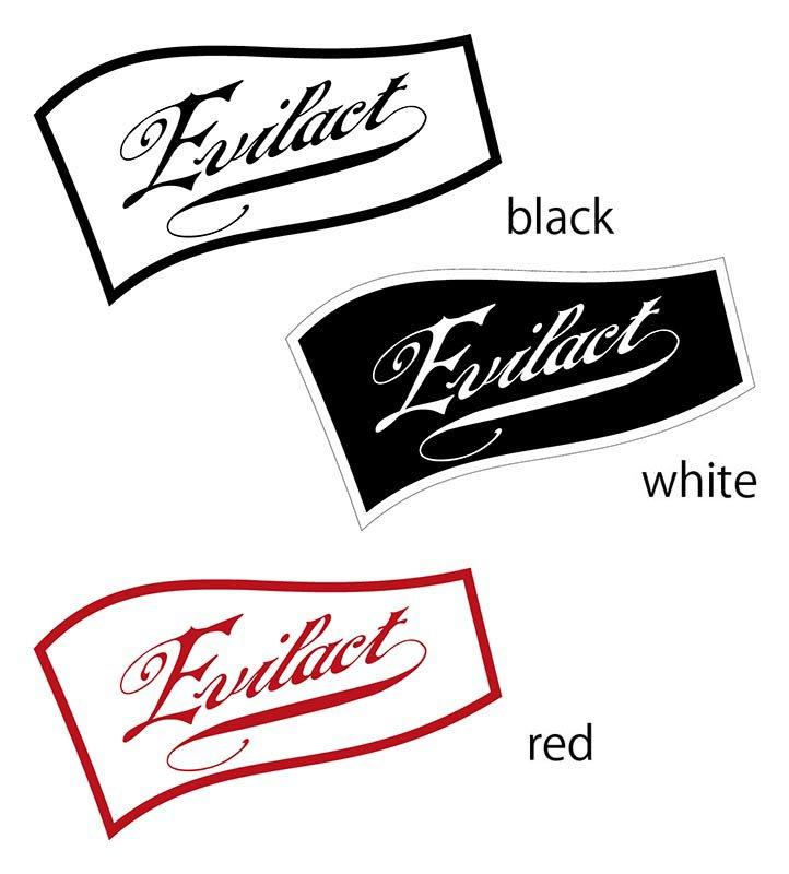 EVILACT Logo Sticker Flag C