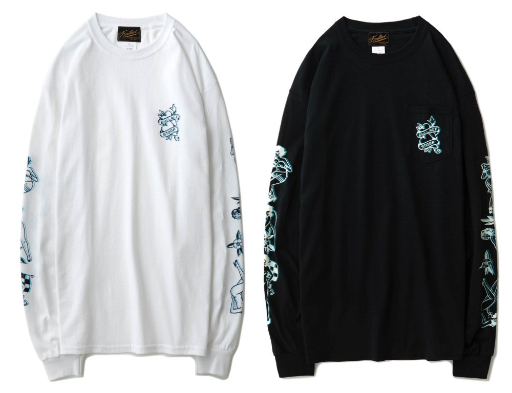 EVILACT×STOOP Long Sleeves T-shirt