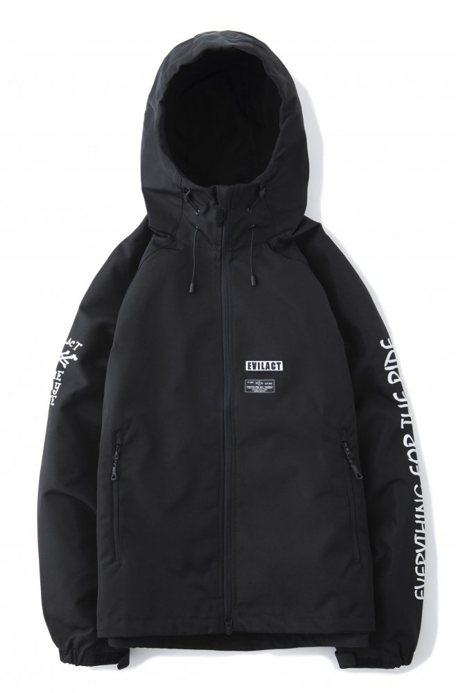 EVILACT  Double Crossbone Shell Parka