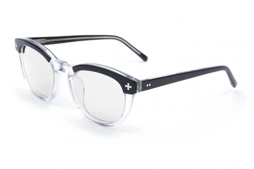"""YALE �"" black×clear frame / dimming lens"