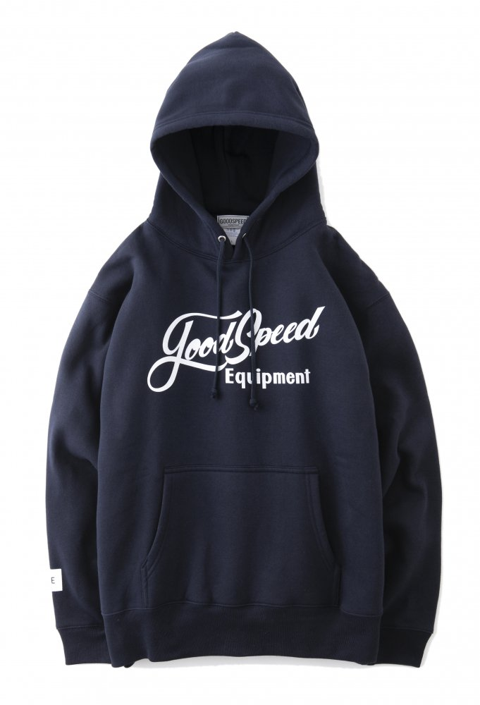 <img class='new_mark_img1' src='https://img.shop-pro.jp/img/new/icons1.gif' style='border:none;display:inline;margin:0px;padding:0px;width:auto;' />GOODSPEED equipment Lettering Logo Pullover Hooded Sweatshirt