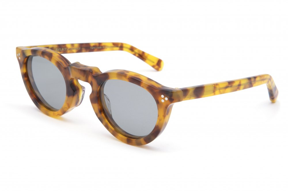 """GREEVES"" yellow havana frame / smoke lens"