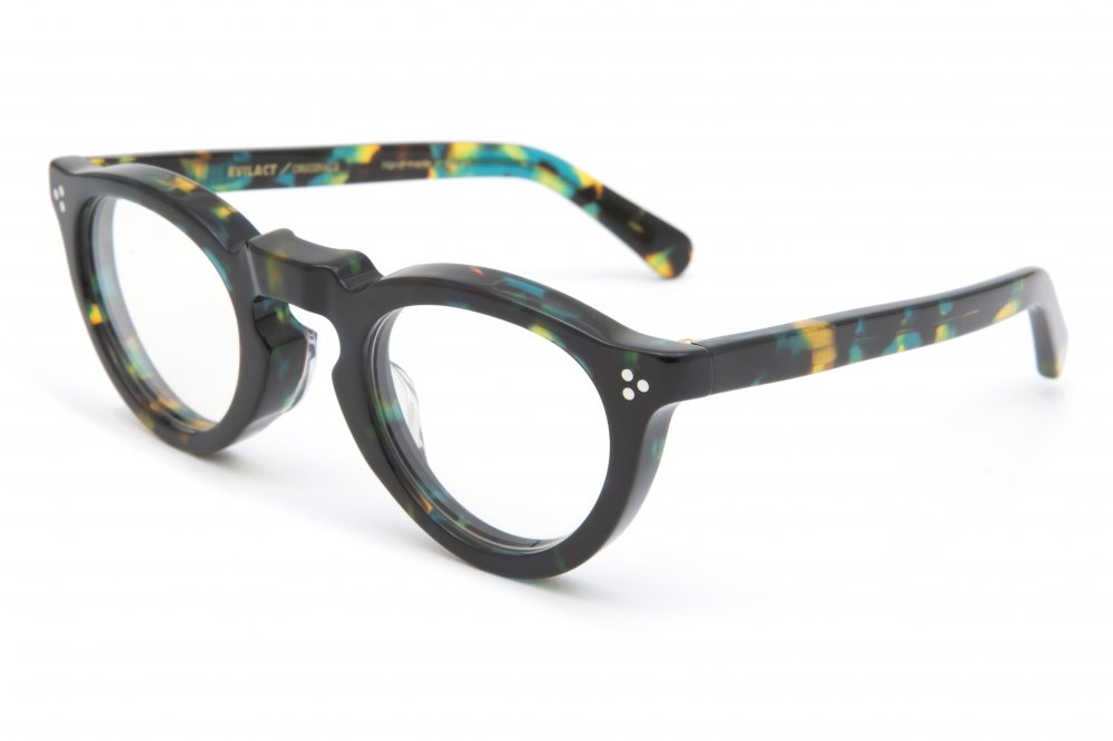 """GREEVES"" emerald havana frame / dimming lens"