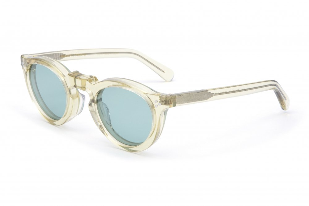 """GREEVES"" vintage clear frame / green lens"