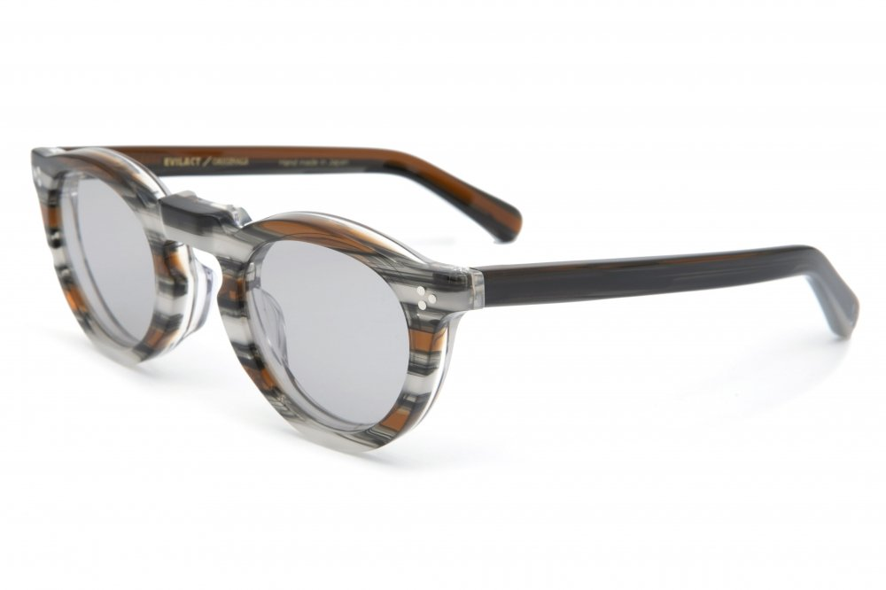 """GREEVES"" brown stripe frame / smoke lens"