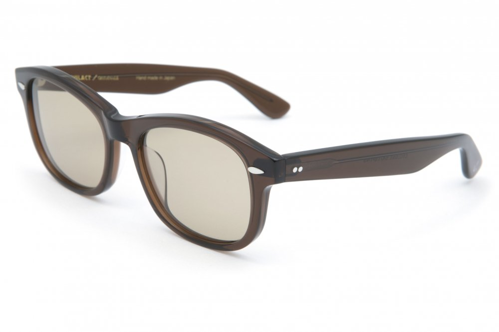 """CYCLONE"" brown clear frame / brown lens"