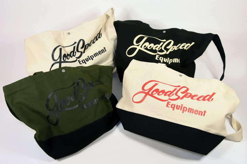 <img class='new_mark_img1' src='https://img.shop-pro.jp/img/new/icons1.gif' style='border:none;display:inline;margin:0px;padding:0px;width:auto;' />GOODSPEED equipment Lettering Logo tote bag