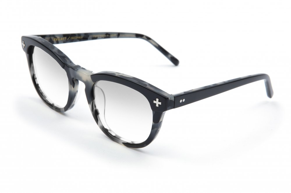"""YALE �"" black×gray leopard frame / dimming lens"