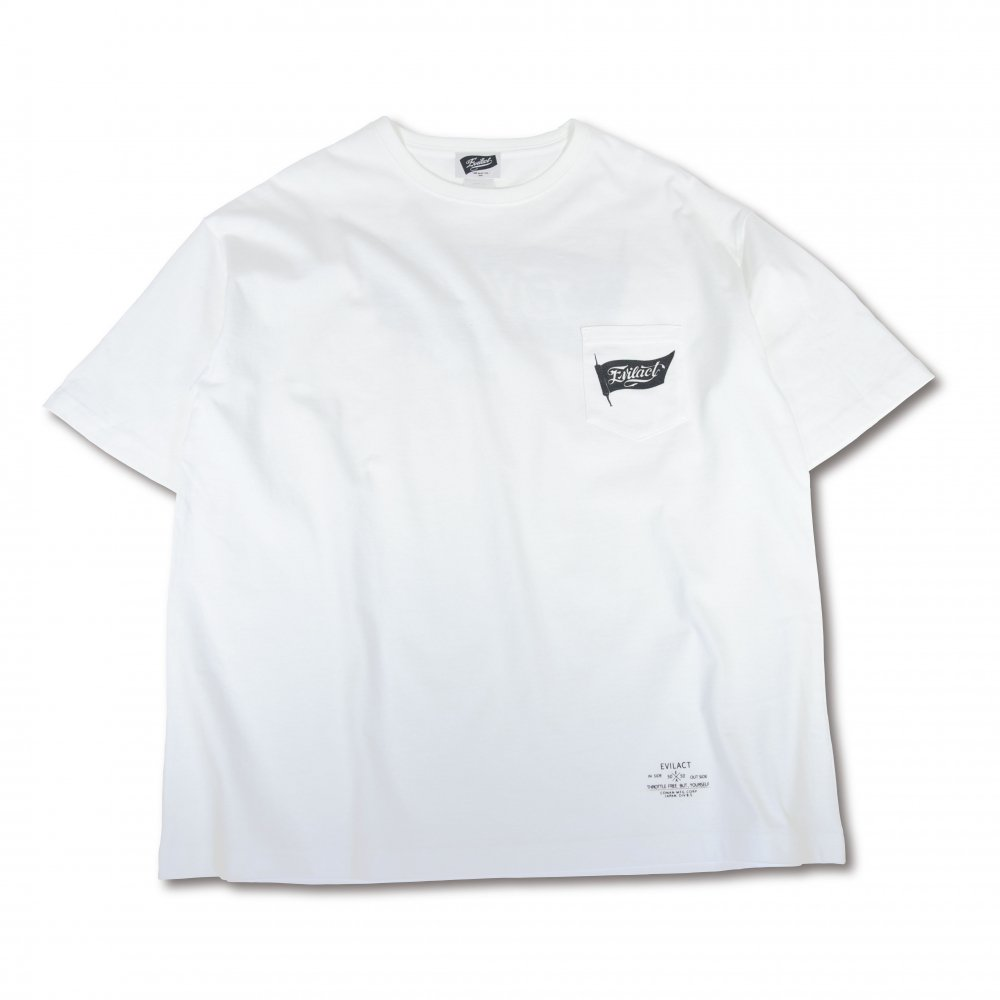 EVILACT Old Flag big silhouette T's S/S
