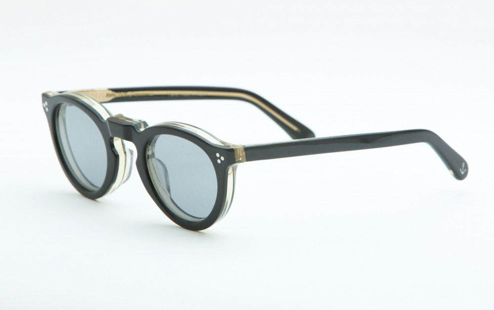 GREEVES black×antique clear frame / smoke lens