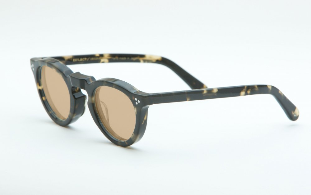 GREEVES black marble frame / brown lens