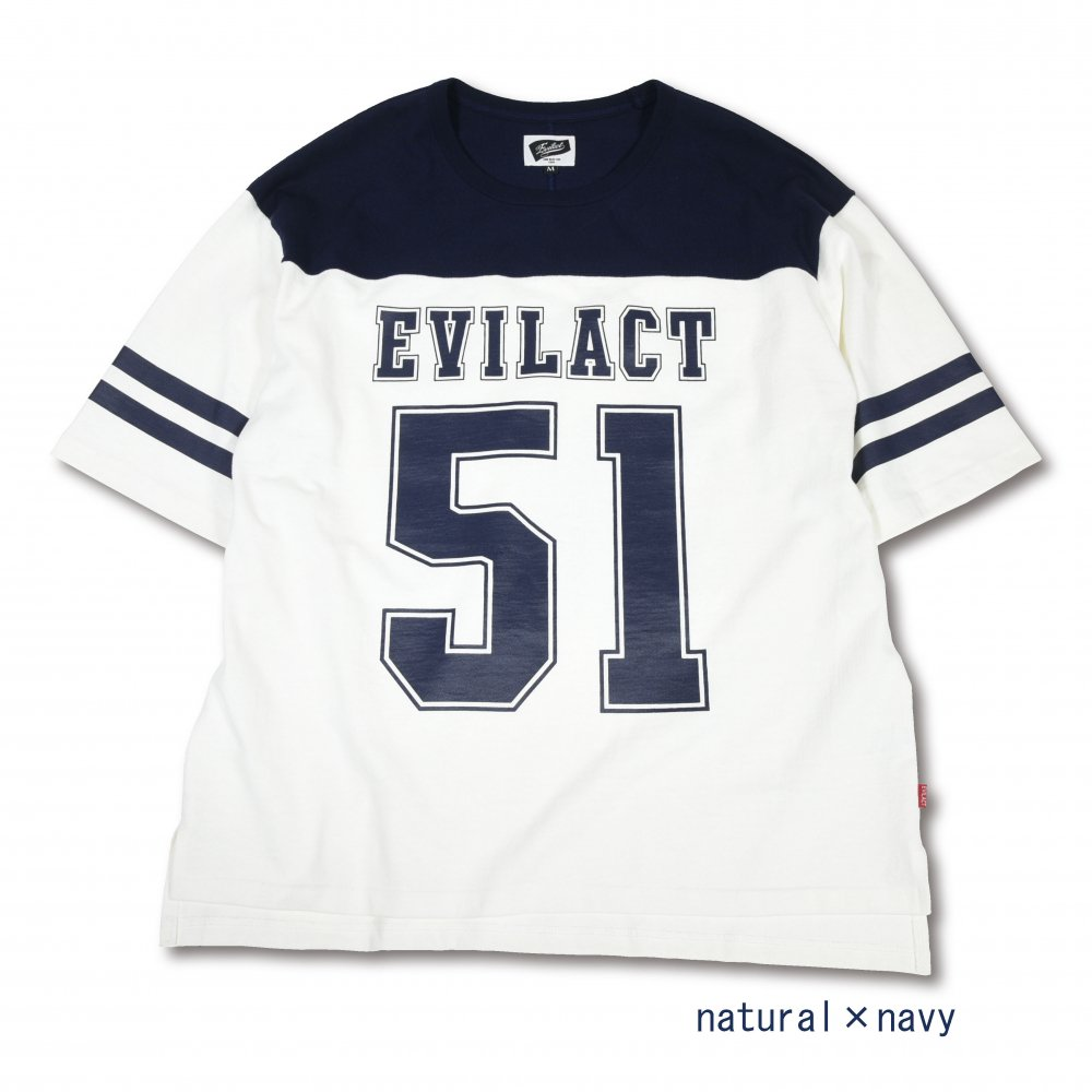 EVILACT FOOTBALL 1/2 SLEEVE LINE SHIRTS