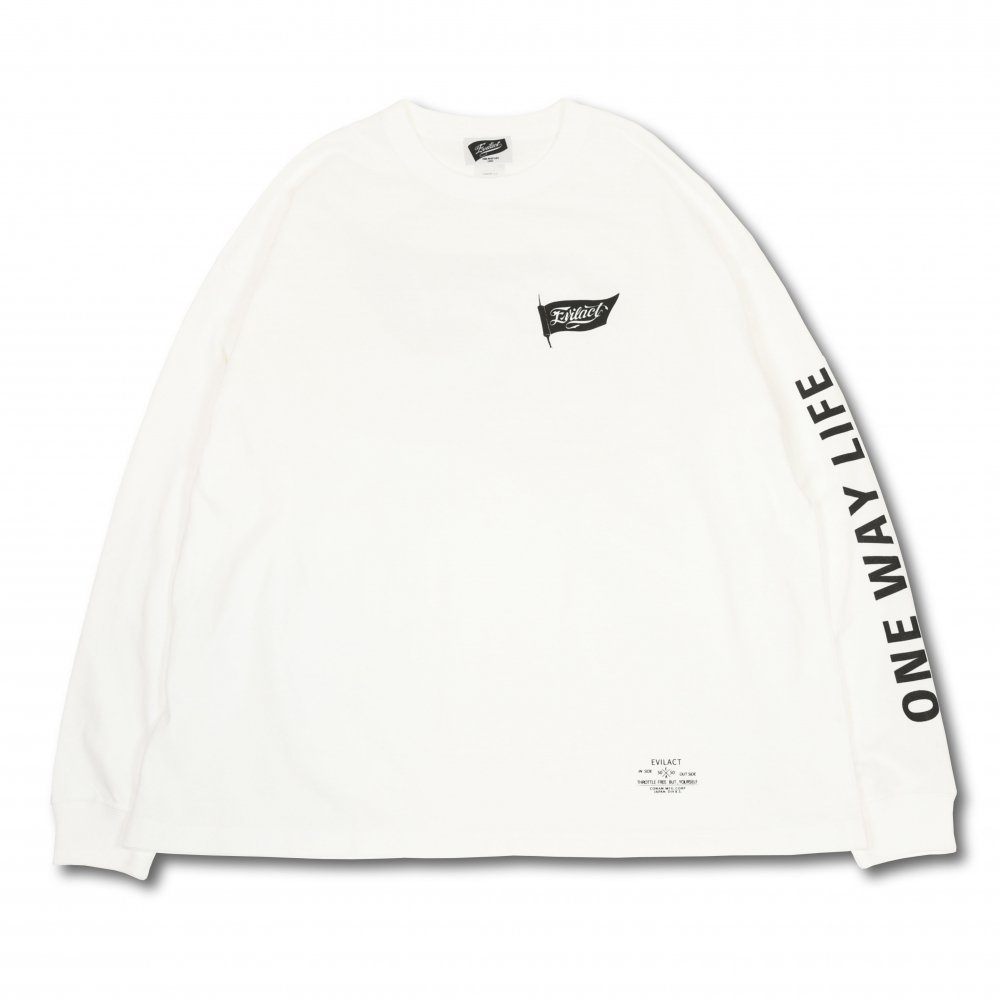 EVILACT Old Flag big silhouette T's L/S