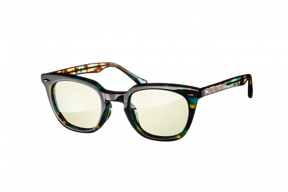 MERKEL emerald havana×clear / green lens
