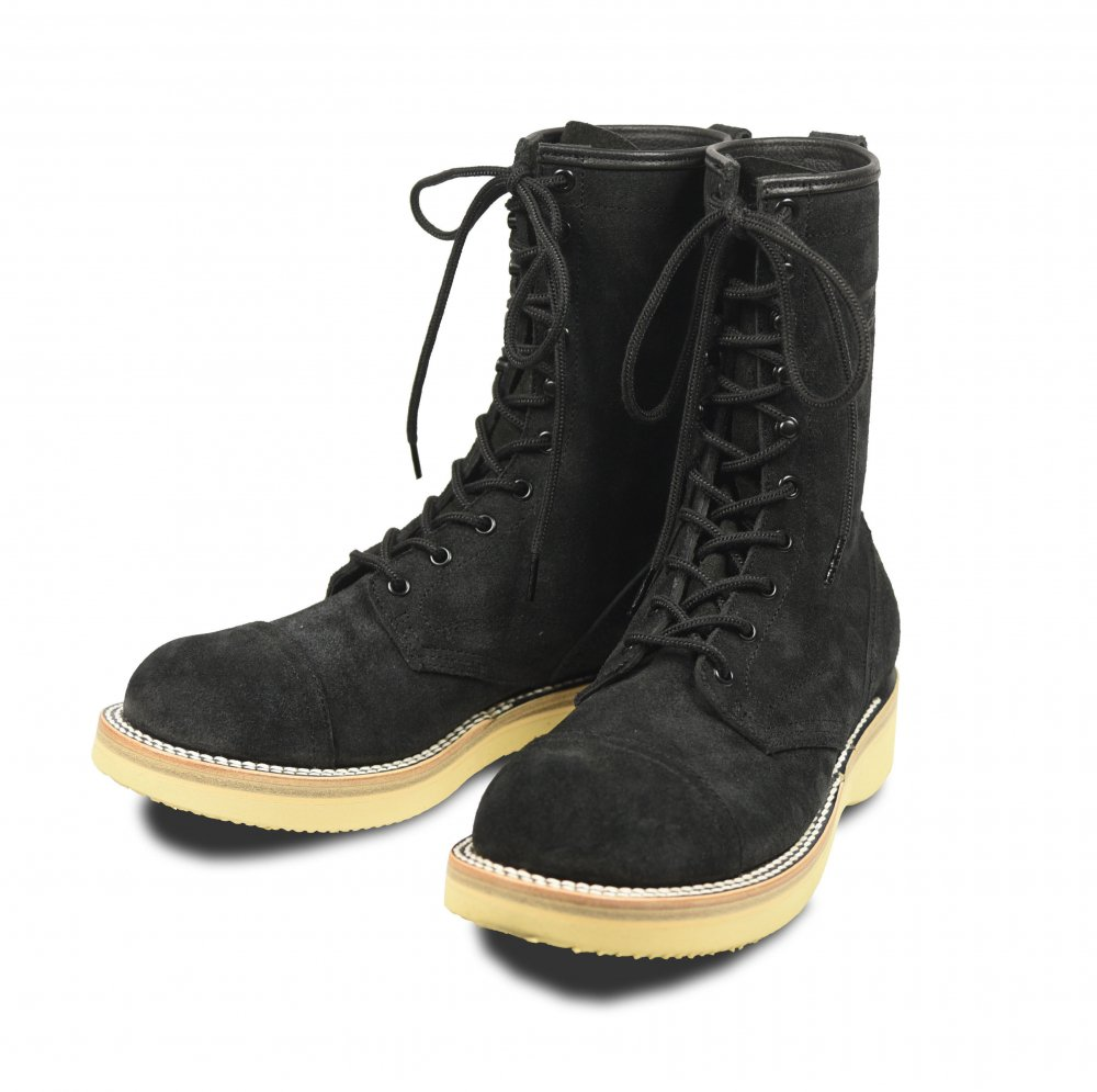 <img class='new_mark_img1' src='https://img.shop-pro.jp/img/new/icons1.gif' style='border:none;display:inline;margin:0px;padding:0px;width:auto;' />EVILACT 10 Hole Lace-up Boots black × black