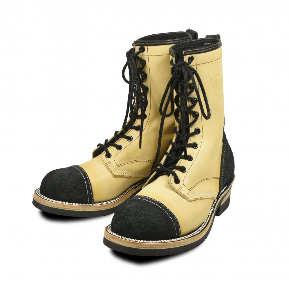 <img class='new_mark_img1' src='https://img.shop-pro.jp/img/new/icons1.gif' style='border:none;display:inline;margin:0px;padding:0px;width:auto;' />EVILACT 10 Hole Lace-up Boots black × beige