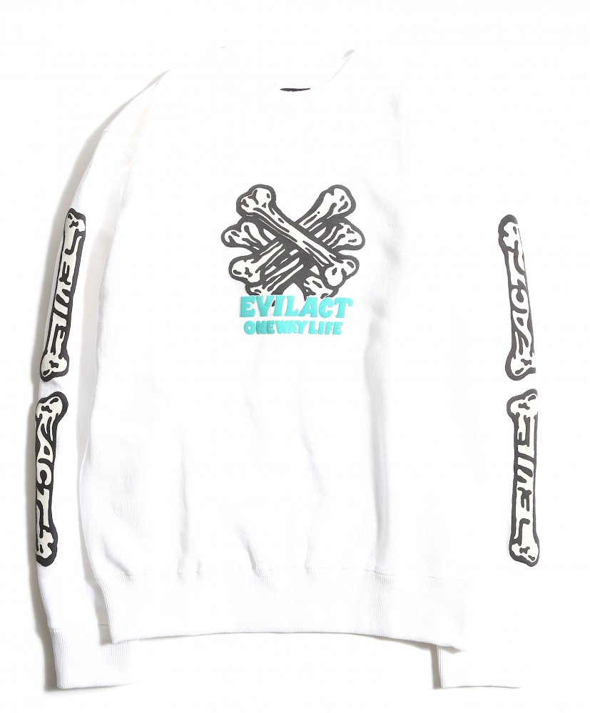 <img class='new_mark_img1' src='https://img.shop-pro.jp/img/new/icons1.gif' style='border:none;display:inline;margin:0px;padding:0px;width:auto;' />EVILACT W.C. Bone Sweatshirt