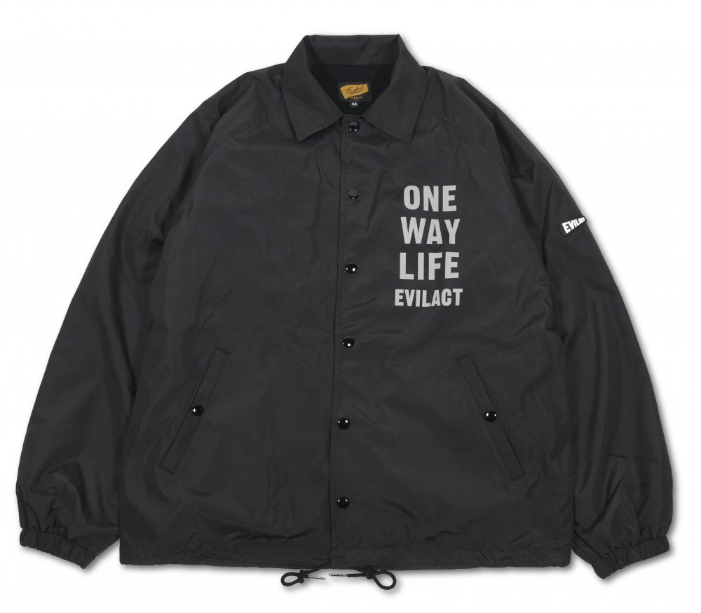 <img class='new_mark_img1' src='https://img.shop-pro.jp/img/new/icons1.gif' style='border:none;display:inline;margin:0px;padding:0px;width:auto;' />EVILACT Reflective O.W.L. Coach Jacket / black