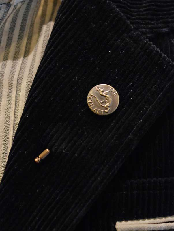 brass button hat pins