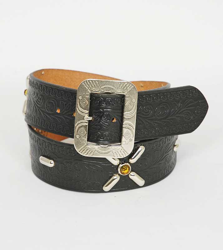 EVILACT×ACE WESTERN BELTS Studded Belt No,1052
