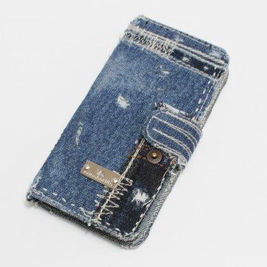Jupiter19,デニム手帳型iPhoneケースip16011_19_dd