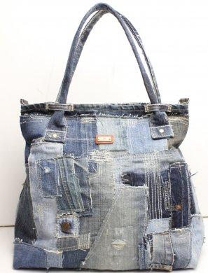 デニムコラージュバッグbag16022