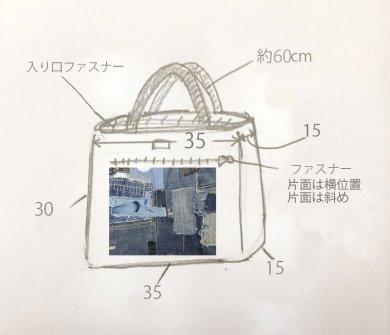 【義間様専用/受注生産】デニムコラージュバッグ