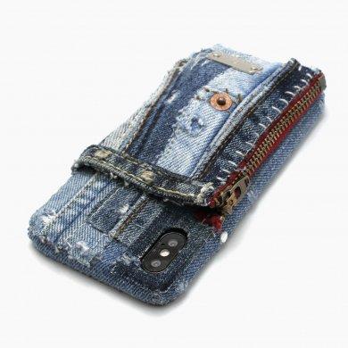 Apollo_combi,デニムiPhoneケース(ファスナーポケット付き)ip18004
