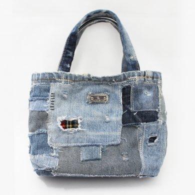 Libra_1,デニムコラージュトートバッグ(小)bag16023