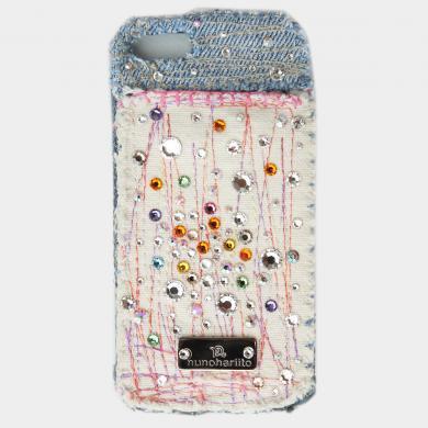 スワロフスキー×デニム×帆布iPhoneケース ip13008_dd