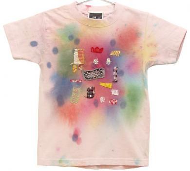 むら染めコラージュTシャツ(Kids 110)038