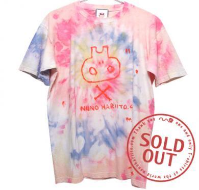 むら染め逆さスカルTシャツ(Mens L)059