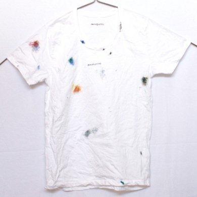【受注生産】ペイント ・UネックTシャツ(Unisex : S , M , L)t15008