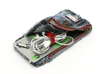 デニムiPhoneケース(ファスナーポケット付き)ip15012_dd