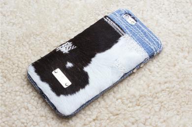 【1点あり】仔牛柄×デニムiPhone6s,6ケースip15014_cow