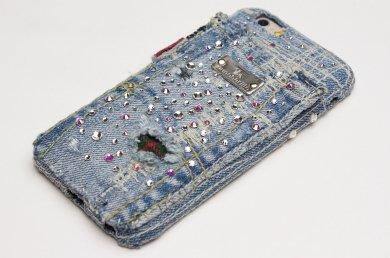 Orion,スワロフスキー×クラッシュ・デニム×タータンチェック、iPhoneケース ip16005